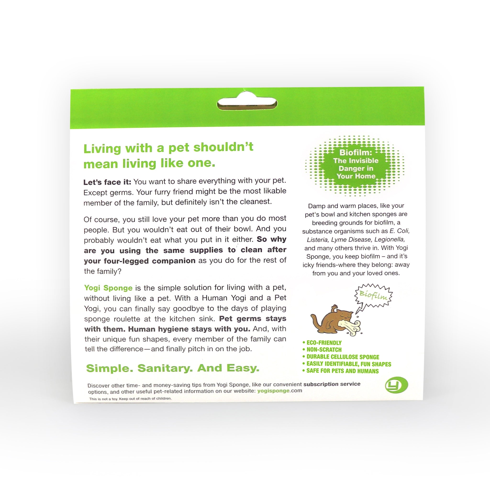 2 Packs of Yogi Sponge Human/Cat, Human/Dog