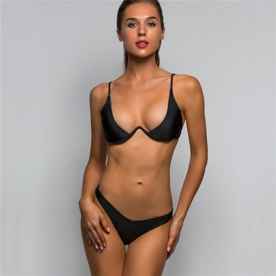 V-bar Underwire High Leg Bikini