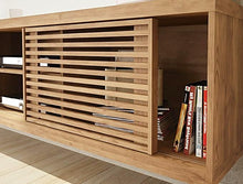 Load image into Gallery viewer, Tv Stand  It features a sliding door,