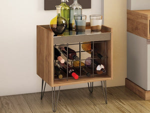 Wine Rack with country design and iron feet