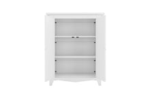 Load image into Gallery viewer, Classic White armoire with doors open