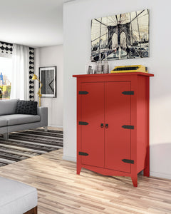 Clasic red Armoire in Living Room