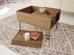 Bau coffee table with removable tray living room