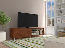 Load image into Gallery viewer, Modern Sophisticated TV Stand/ Laser Mosaic Details And Silicone Wheels