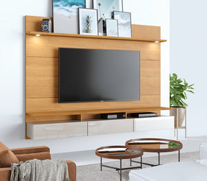 Floating Wall TV Panel + Rack Decore 220