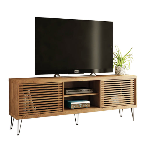 Rustic Country Flat TV Stand with Metal Legs Frizz 180 Decor Brand New Furniture