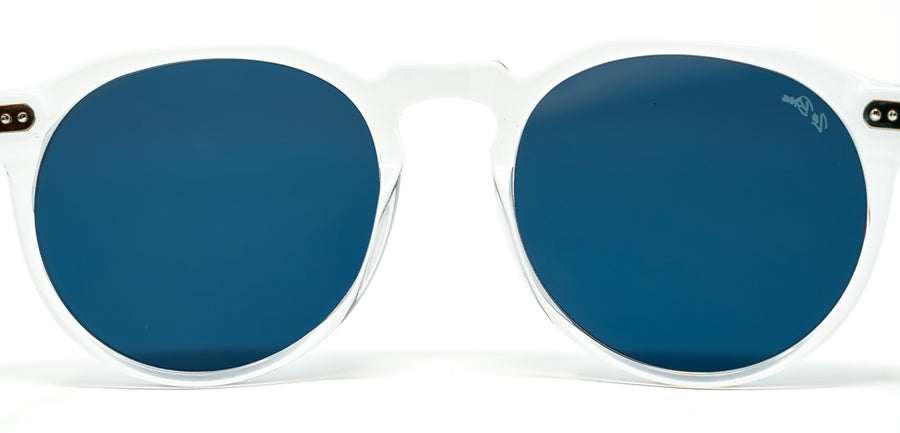 La Brea Marmont Cobalt clear blue sunglasses - back