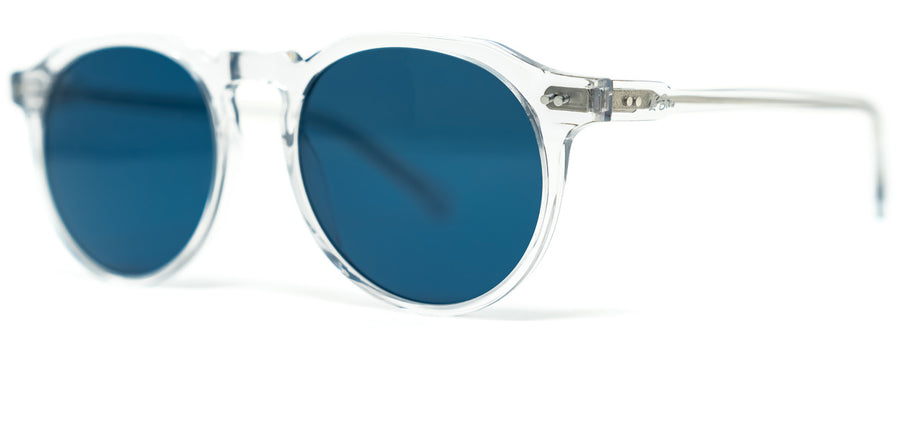 La Brea Marmont Cobalt clear blue sunglasses - side