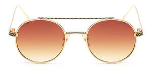 La Brea Rodeo Amber gold sunglasses - front