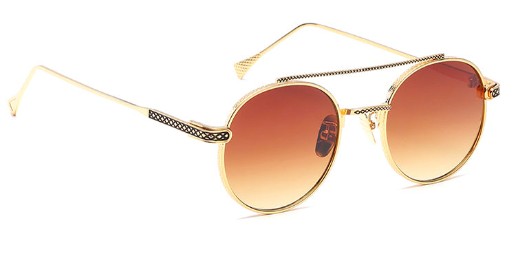 La Brea Rodeo Amber gold sunglasses - side