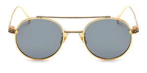 La Brea Rodeo Classic gold sunglasses with grey lenses - front