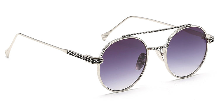 La Brea Rodeo Mauve silver sunglasses - side