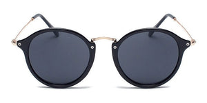 La Brea Roosevelt Classic black gold sunglasses with black lenses - front