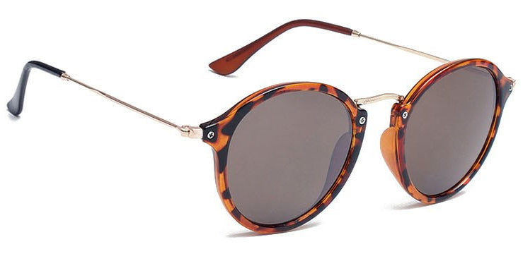 La Brea Roosevelt Leopard sunglasses with amber lenses - side