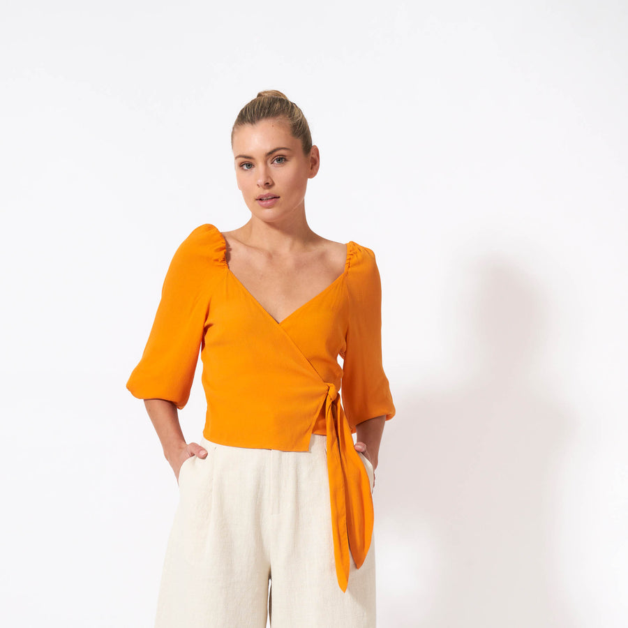 Autumn Sonata Top - Tangerine
