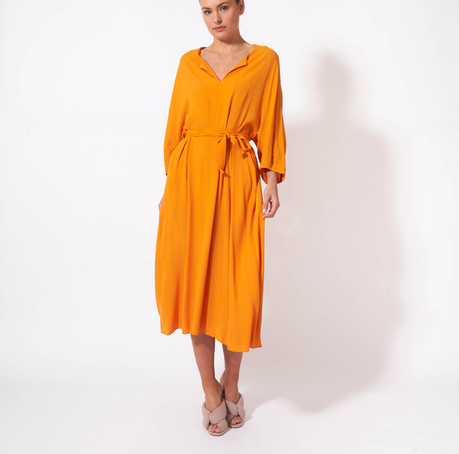 Meet Me In St Louis Dress - Tangerine