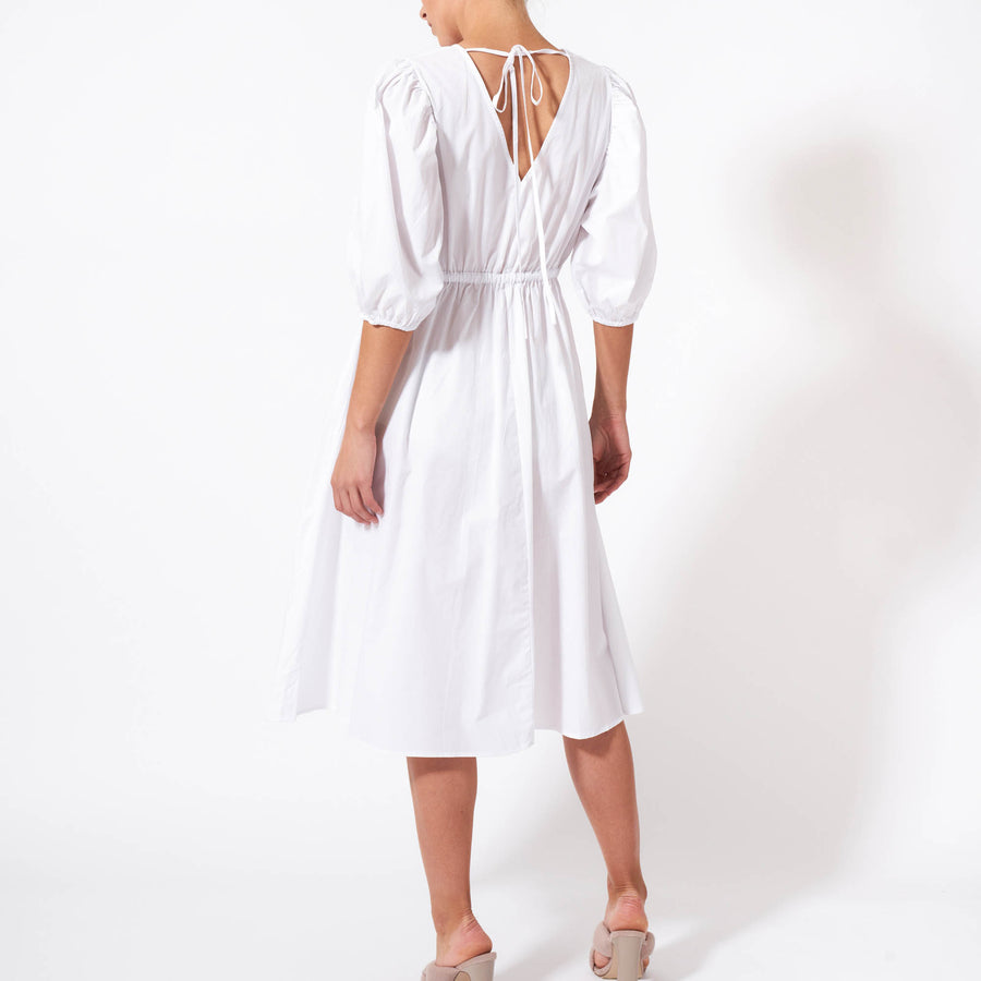 Spellbound Midi Dress - White