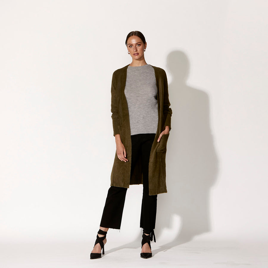High Society Cardigan - Khaki