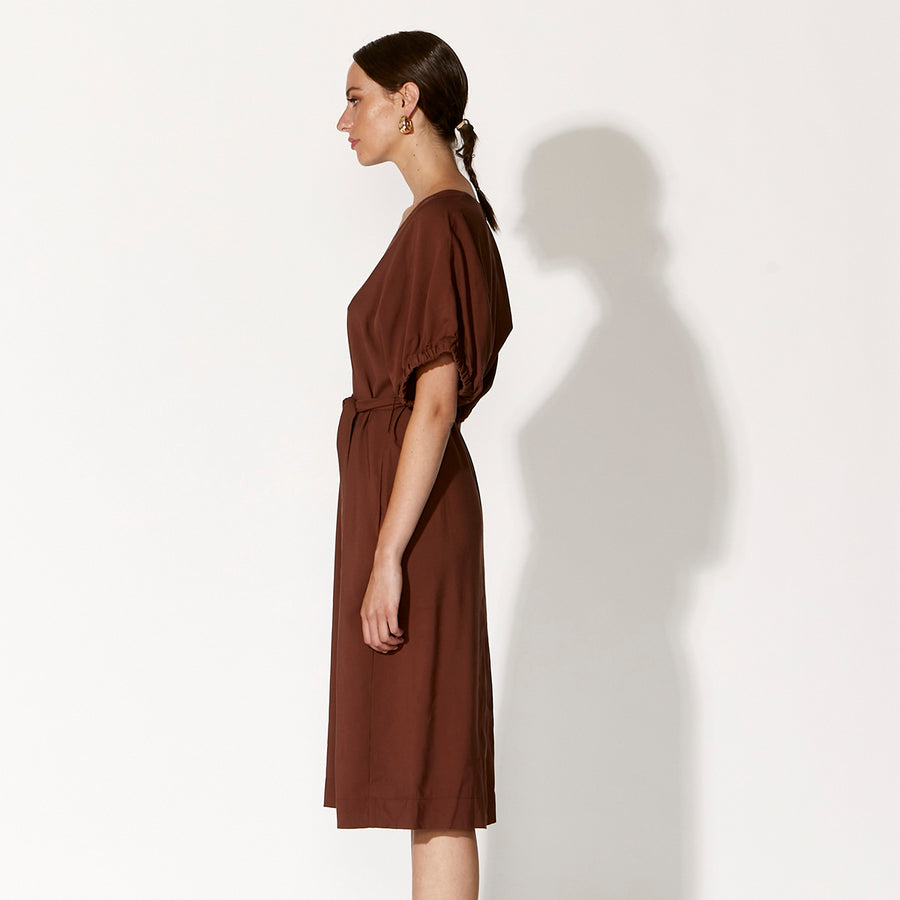 L'Atalante Dress - Burnt Umber