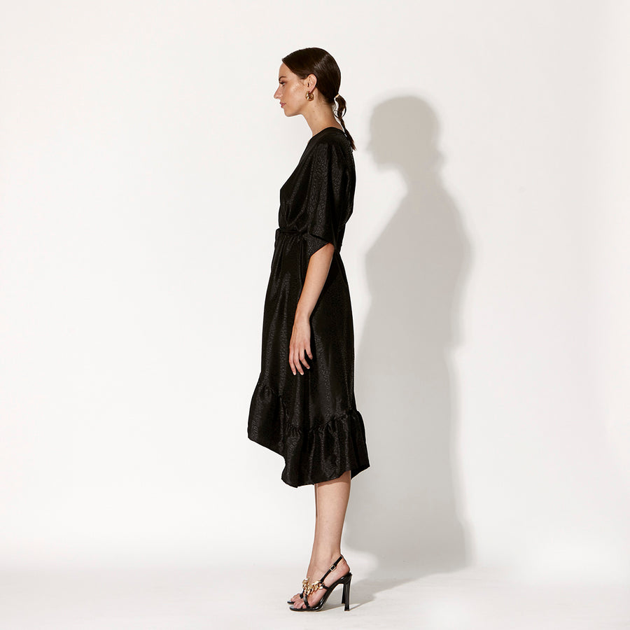 Breathless Dress - Black Leopard