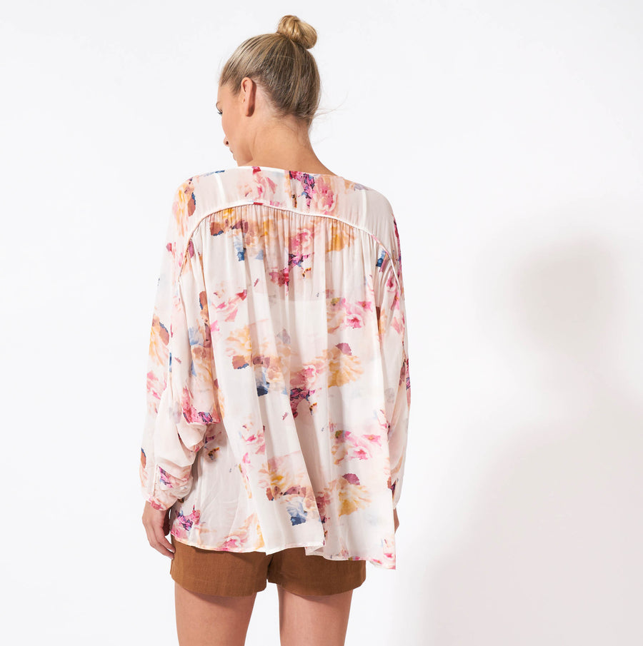 Wuthering Heights Top - Floral Print