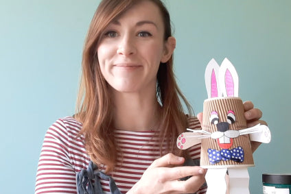 Make Easter rabbit puppet with Aiysha!🐰