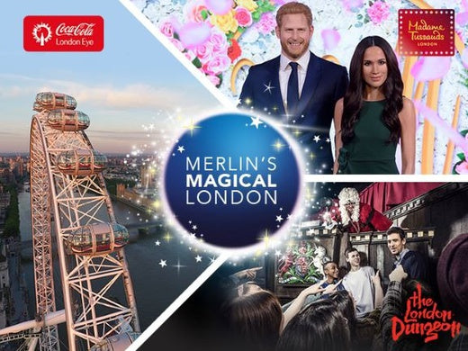 Merlin's Magical London: 3 attractions in 1 – Coca-Cola London Eye + Madame Tussauds + The London Dungeon