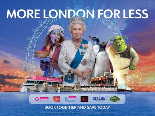 Merlin's Magical London: 3 attractions in 1 -  The London Dungeon + SEA LIFE + Madame Tussauds