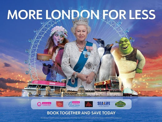 Merlin's Magical London: 3 attractions in 1 – Shrek's Adventure + The lastminute.com London Eye + SEA LIFE