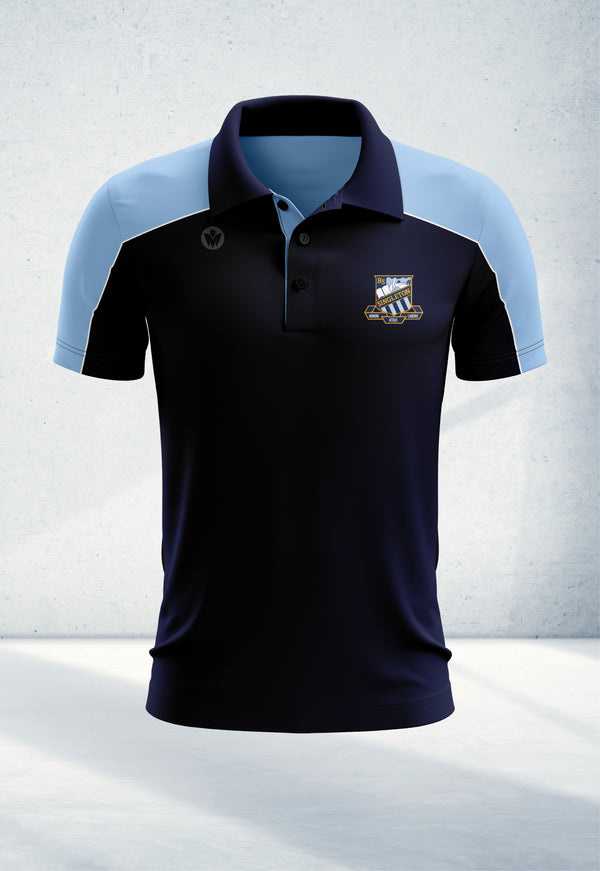 Staff Navy & Sky Blue Polo Shirt