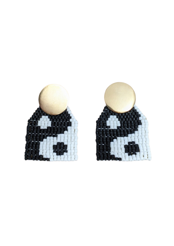 Ying Yang Mini Beaded Earrings