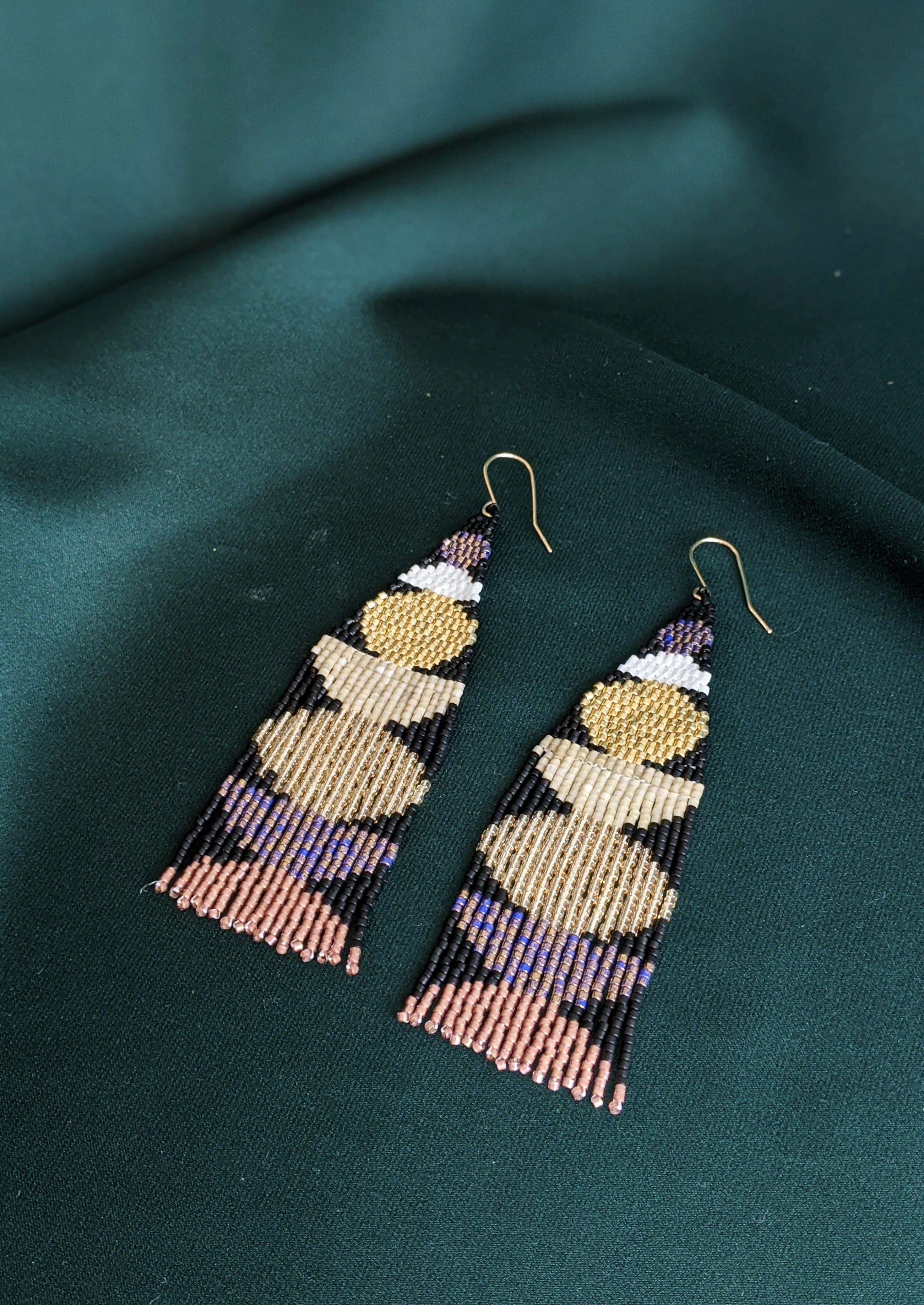 Holiday Stacked Shapes Beaded Earrings