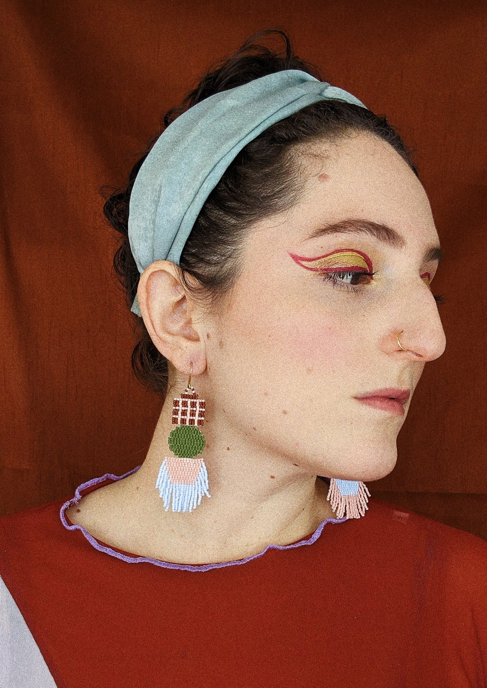 Pastel Whimsy Beaded Earrings