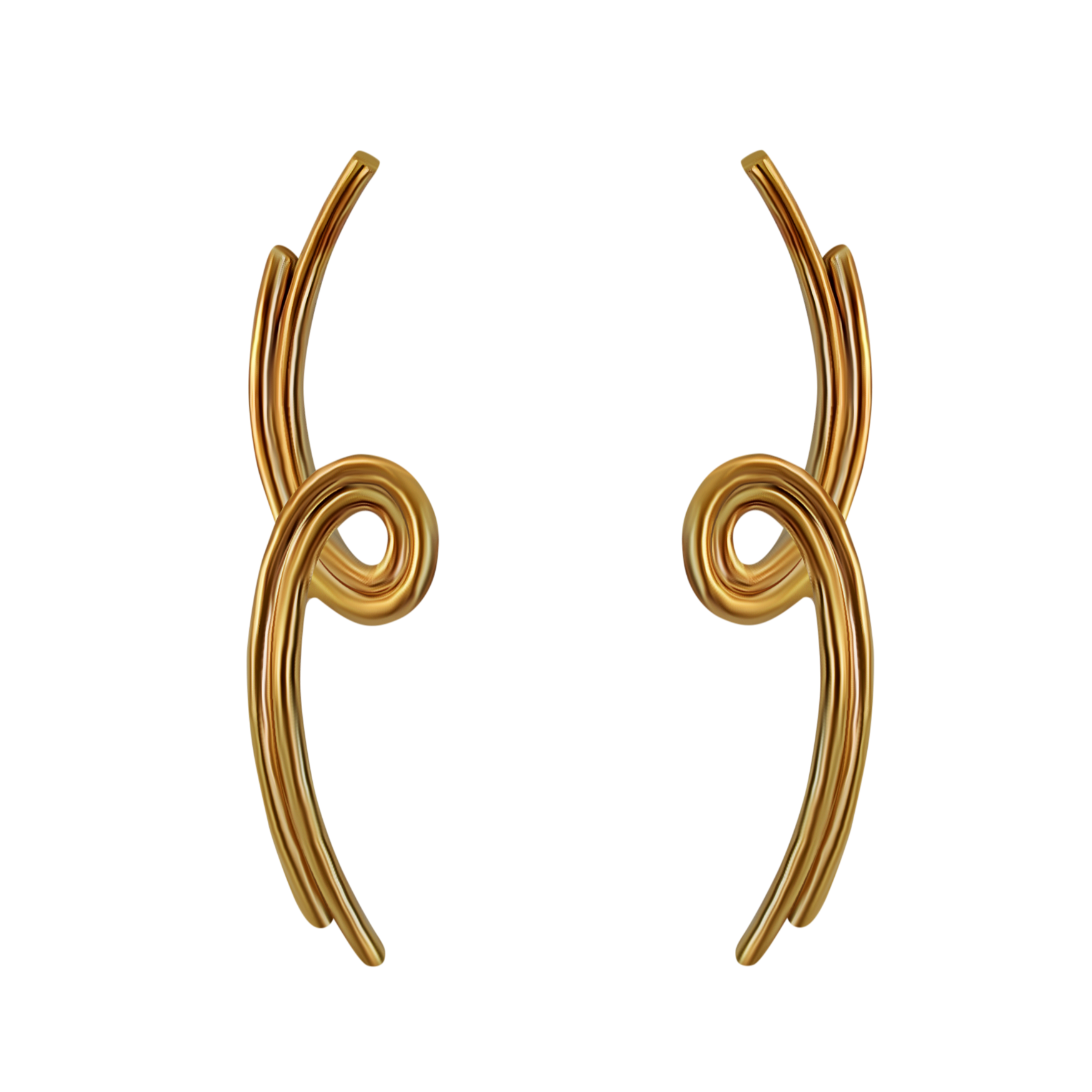 Long Swoop Earrings