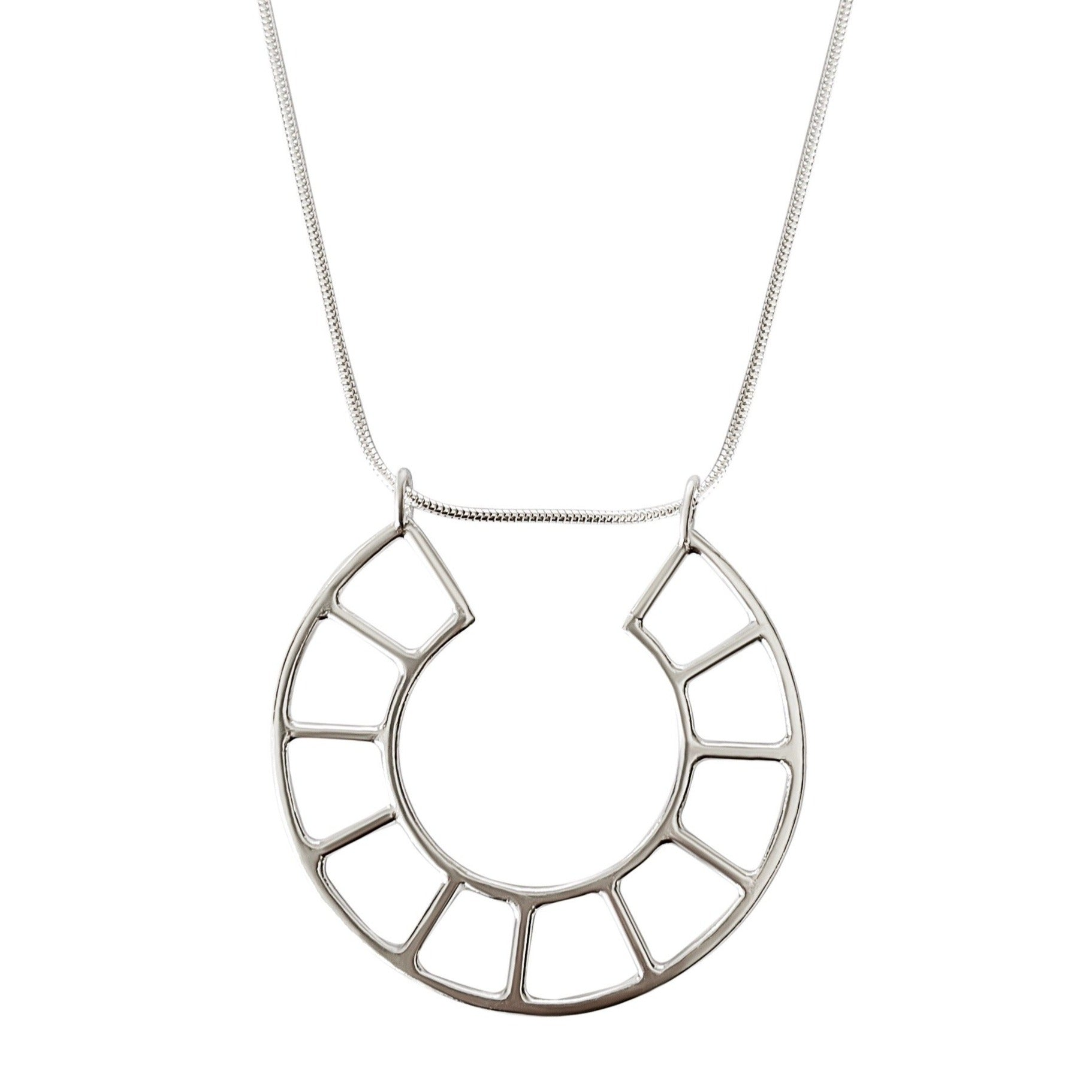 Grid Circle Necklace