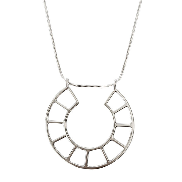 Grid Circle Necklace 1