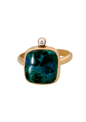 Malachite & Diamond Ring 2