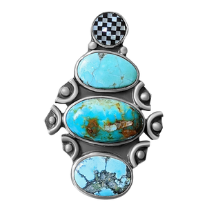Turquoise and Inlay Ring 2