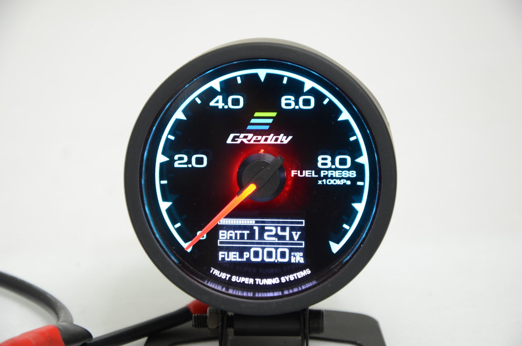"GReddy Replica Style Fuel Pressure Gauge 60mm 2.5"" - Drift Cartel Australia"