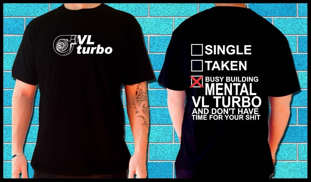 Men T-Shirt Men Clothing Plus Size T SHIRT VL Calais Turbo RB30 RB2B26 t04 V6 boost v8 car Tee Shirt - Drift Cartel Australia