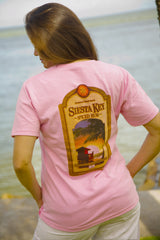Siesta Key Spiced Rum T-Shirt (Ladies Pink)