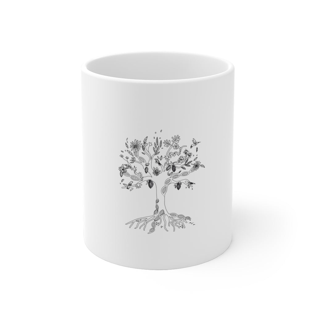 Traditions DNA Tree White Ceramic Mug