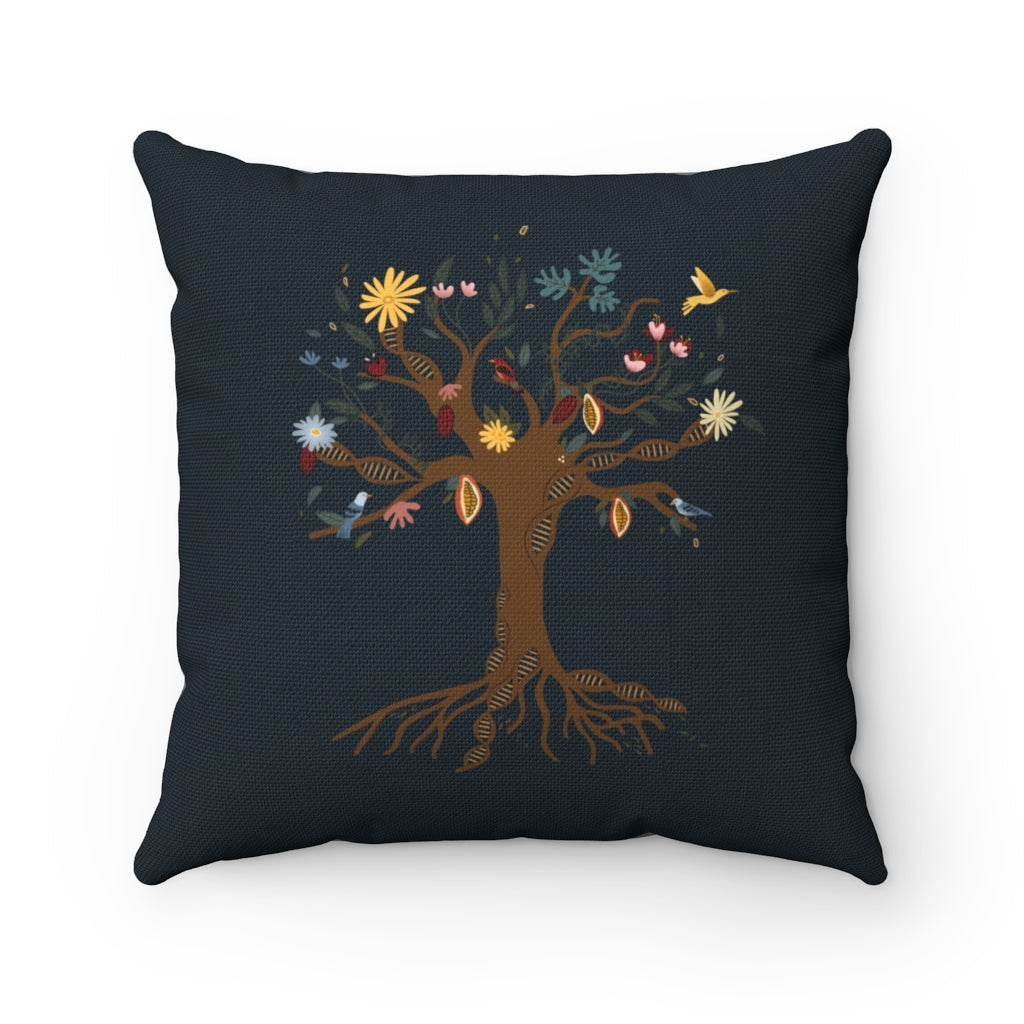 Traditions DNA Tree Spun Polyester Square Pillow