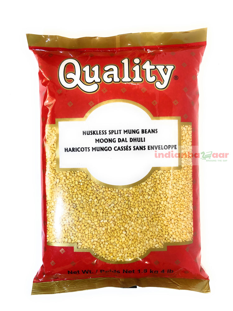 Moong Dal (Washed Split) 4 lb - Indian Bazaar - Online Indian Grocery Store