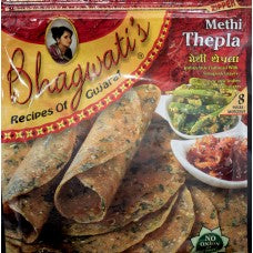 Bhagwati Methi Thepla 8pc - Indian Bazaar Inc