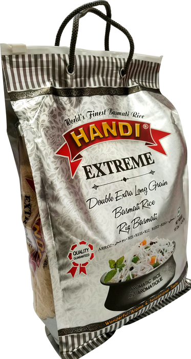 Extreme Extra Long Basmati Rice 10 lb (Handi) - Indian Bazaar - Online Indian Grocery Store