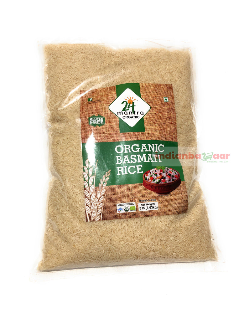 Basmati Rice 8 lb (Organic) - Indian Bazaar - Online Indian Grocery Store