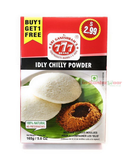 777 Idli Chilli Powder 165 g B1G1 - Indian Bazaar - Online Indian Grocery Store