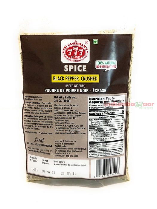 777 Pepper Powder (Coarse) 100 g - Indian Bazaar - Online Indian Grocery Store
