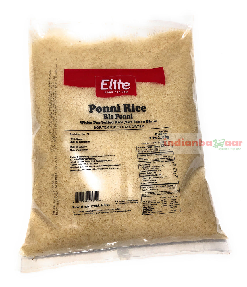 Ponni Par Boiled Rice 8 lbs - Indian Bazaar - Online Indian Grocery Store